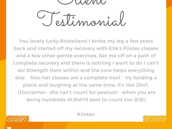 Client Testimonial from Kirsten