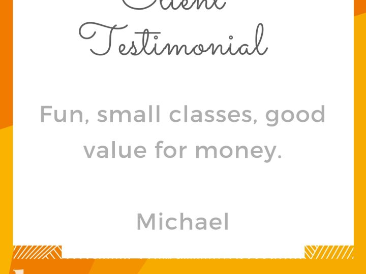 Client Testimonial from Michael